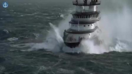 当轮船遇上狂浪, 能够活下来都是幸运! 给多少钱都不坐