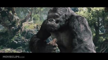 经典老电影之金刚之大猩猩VS小恐龙