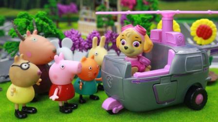 『奇趣箱』兔小姐的校车坏了, 汪汪队立大功的灰灰帮忙修理, 接送小猪佩奇和朋友们