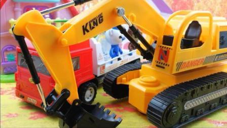 超级飞侠3 大卡车工程车挖掘机玩具 海底小纵队