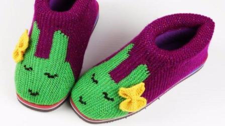 雅馨绣坊棉鞋编织视频第49集: 美人兔蝴蝶结的织法