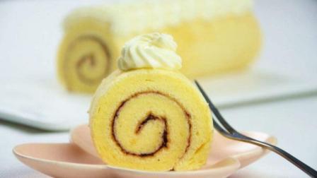 柠檬蓝莓蛋糕卷的做法, 看着都忍不住想吃