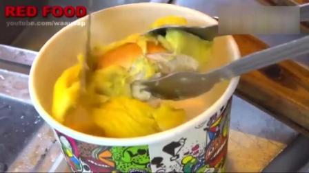 泰国的炒榴莲冰淇淋卷, 榴莲控们, 你的口水要流了吗