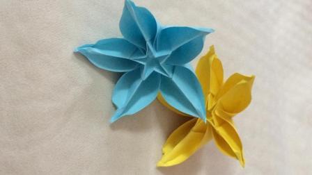 杨桃花折纸视频图解DIY艺术坊 折纸花步骤解析 儿童手工折纸大全