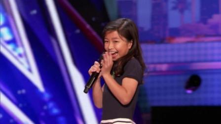 让人泪奔的现场! 9岁小女孩霸气翻唱席琳迪翁的世纪经典歌曲
