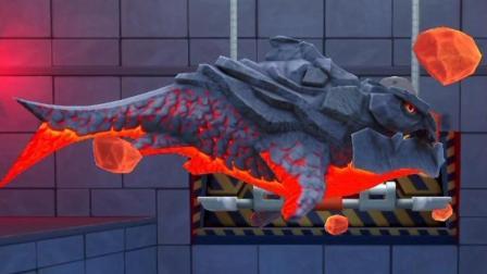 【肉肉】饥饿鲨鱼进化 27火山守护!