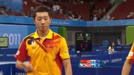国乒选手参加世界大学生运动会, 打的韩国队崩溃了, 对手全是世界冠军
