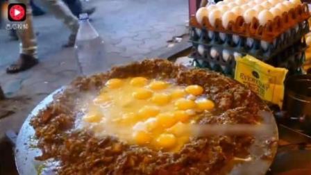 印度三哥熟悉的铁板炒饭回来啦! 一锅炒饭18个蛋, 三哥鸡蛋不要钱吗?