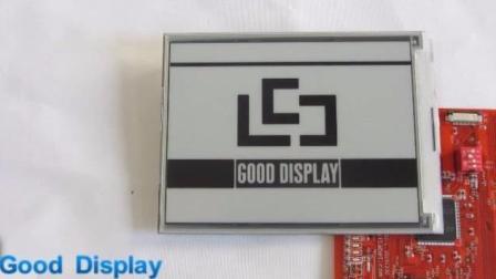 6寸电子纸显示屏开发板刷新视频