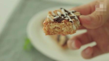 粉色巧克力蛋糕和花生酱饼干制作