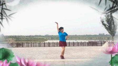 风中梅花广场舞 (单人水兵舞)一首醉人的歌 茉莉编舞 演示制作 梅花