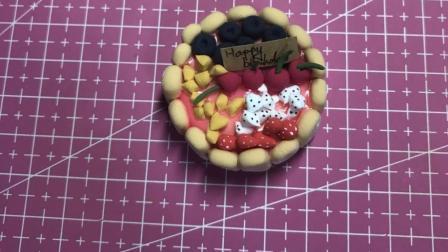超轻彩泥粘土手指饼蛋糕制作食玩教程