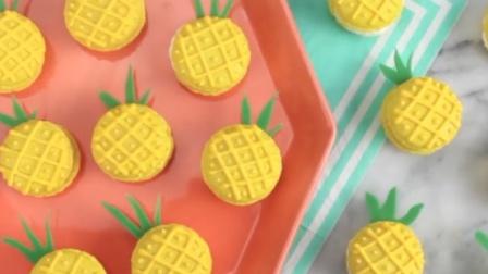食屏:如何做卡通菠萝马卡龙