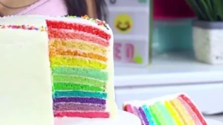 食屏:如何做超美丽的十二层彩虹蛋糕
