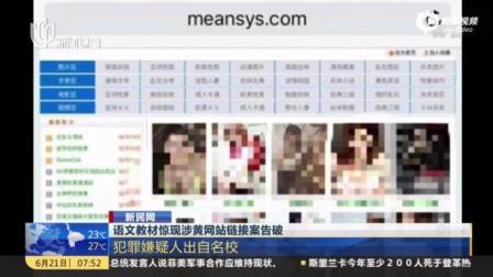 语文教材惊现黄色网站链接 犯罪嫌疑人曾是学霸, 出自名校