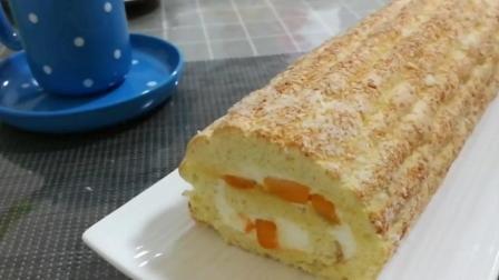 指形蛋糕卷不用牛奶也不用油, 和戚风海绵蛋糕不一样的做法