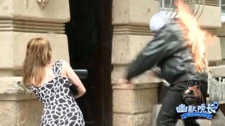 幽默院长国外街头恶搞路人视频合集