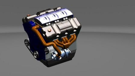 V6发动机拆解