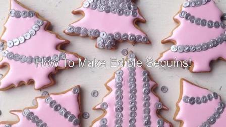 【糖霜饼干装饰】粉色闪闪圣诞树