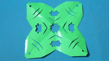 剪纸小课堂434: 鱼纹样团花剪纸教程大全 儿童亲子手工DIY教学 简单剪纸艺术 折纸王子