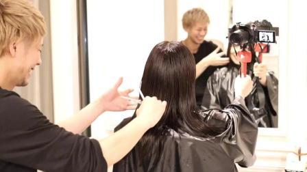 发型师给妹纸做的这款发色, 是今年很流行的发色