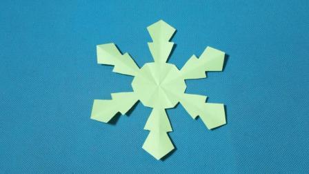 剪纸小课堂446: 雪花7团花剪纸教程大全 儿童亲子手工DIY教学 简单剪纸艺术 折纸王子