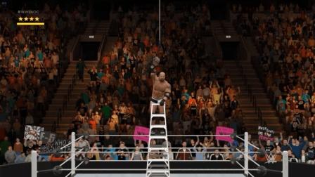 【日常乱怼】WWE2K17 高博VS莱斯那TLC战 1VS1 电脑