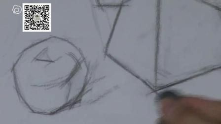 素描入素描静物素描圆柱斜面体铺调子的诀窍素描教程步骤图解零基础学油画高考美术培训
