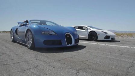 布加迪威龙 vs 兰博基尼 Aventador! 现场实测! 那一个更快? !