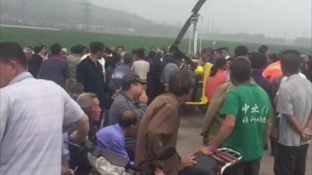 山西省武乡县, 一架正在试飞的无人驾驶飞机坠落在一个村子的河滩地, 引起了村民的疑惑