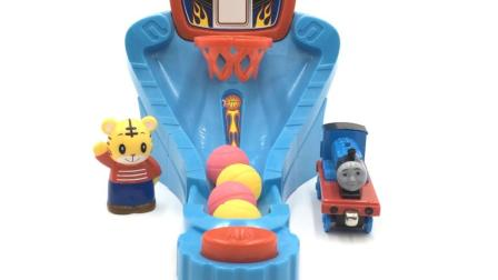 巧虎和托马斯小火车打篮球
