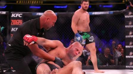 菲多 艾米连科 廉颇老矣 MMA传奇人物菲多艾米连科在Bellator的赛场上被击倒