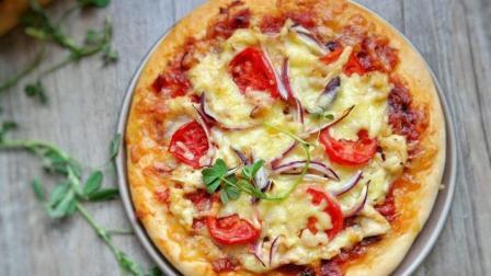 【黑椒鸡肉披萨】好吃看得见~还可以按照自己喜欢的口味和方式随意做太棒了!