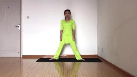 瑜伽美女教学系列之蹲式瑜伽, 增强腿部力量
