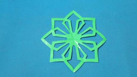 剪纸小课堂466: 团花13 团花剪纸教程大全 儿童亲子手工DIY教学 简单剪纸艺术 折纸王子