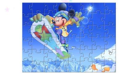 米奇妙妙屋系列游戏之米老鼠滑雪拼图小主公解说