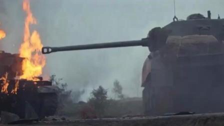 二战经典战争片段: 盟军装甲部队遭到德军猛烈攻击, 只能靠轰炸机支援