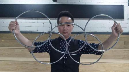 传统魔术教学: 中国六连环, 原来方法是这样