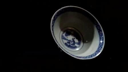 360度欣赏西安博物馆的青花瓷碗