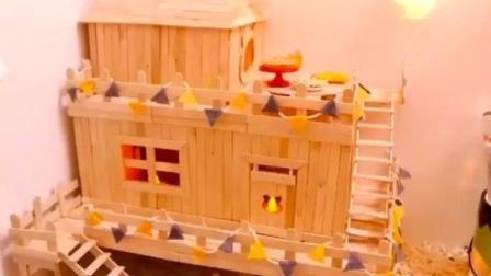幸福的仓鼠住的是两层别墅, 蜗居的我好羡慕!