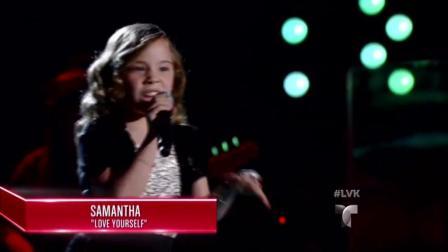 9岁小女孩挑战偶像贾斯汀比伯的最新歌曲, 直接就可以当歌手了