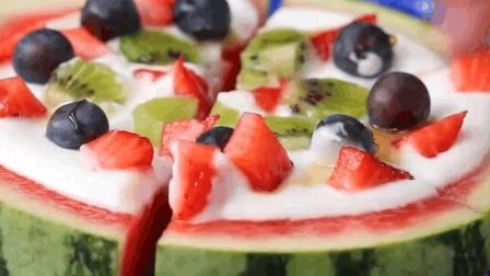 把西瓜变成这个美味的水果比萨, 西瓜的另类吃法