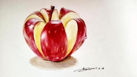 彩铅超写实——入门彩铅画苹果