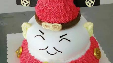 余香蛋糕培训学校生日蛋糕裱花班创意蛋糕招财猫 制作视频
