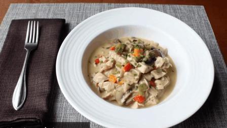 奶香四溢的西式蘑菇鸡肉料理, 大厨手把手教你做美味一人食