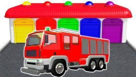 货柜车卡车货车消防车玩具 小伶玩具汽车总动员
