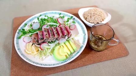 香煎金枪鱼沙拉饭