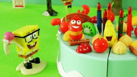 玩具学堂 2017 爆笑虫子偷吃海绵宝宝生日蛋糕 187 爆笑虫子偷吃海绵宝宝蛋糕