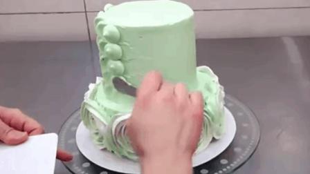 这个视频告诉你 玫瑰的花瓣奶油蛋糕的漩涡是怎么制作的