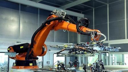 库卡机器人汽车生产线全自动视频